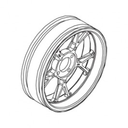 REAR WHEEL FM1n FOR DUCATI DESMOSEDICI GP8