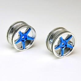 WHEEL 5-SPOKE CHROME BLUE 26mm FOR TOMAHAWK