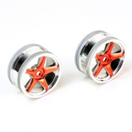 WHEEL 5-SPK-26mm CHROME-RED FOR TOMAHAWK MX VX