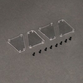 Suspension plate for rc electric kt8 racing kart