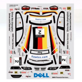 DECALS FOR BMW 320i FOR TOMAHAWK