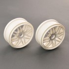 MULTI SPOKE WHEEL 1/8 WHITE FOR EB4 S3 BUGGY
